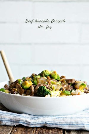 Beef Broccoli and Avocado Stir Fry Recipe