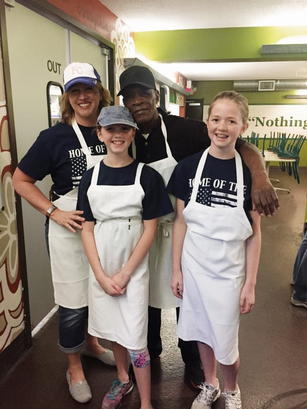 Kristen Doyle Volunteering at Kansas City Community Kitchen with Kids
