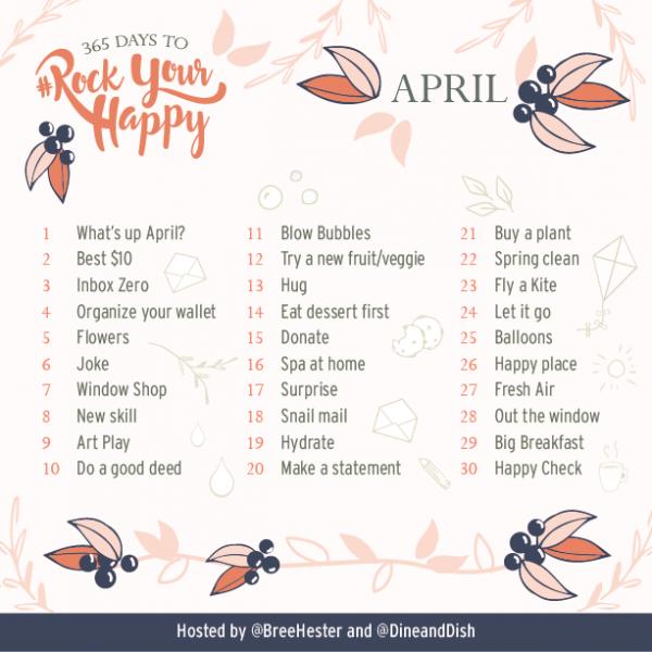 April 2017 Rock Your Happy Prompts