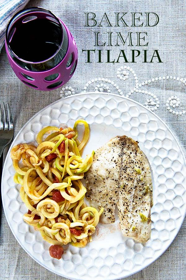 Super Simple Baked Tilapia with Lime