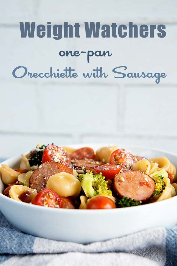 Weight Watchers Lemony One-Pan Orecchiette with Sausage and Broccoli