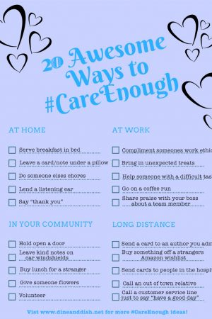20 Awesome Ways to Show You #CareEnough