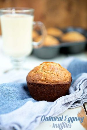 Holiday Oatmeal Eggnog Muffins Recipe