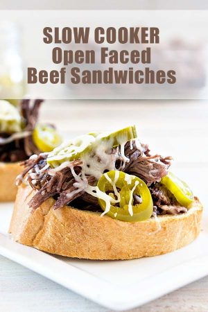 Slow Cooker Roast Beef Sandwiches are a simple meal when you need something easy for dinner!