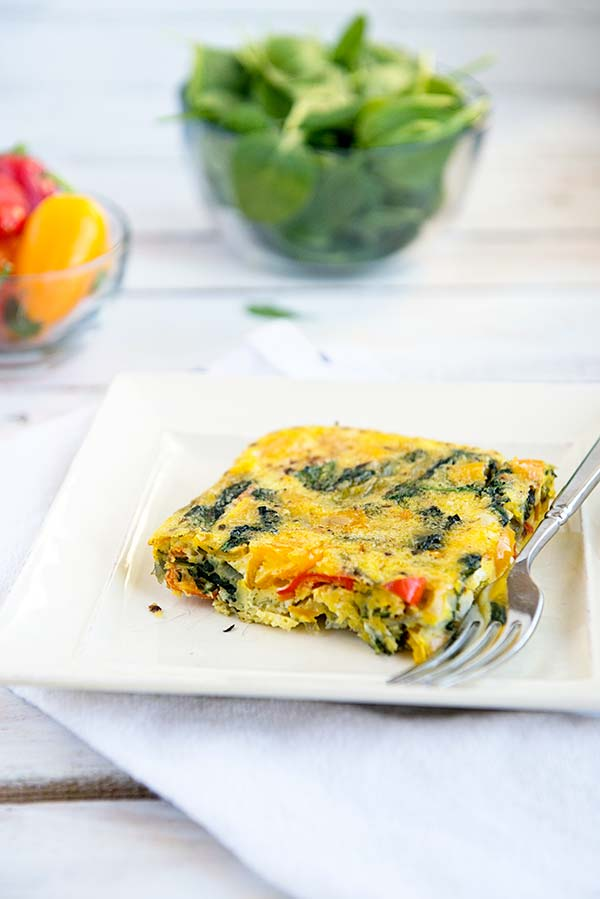 A Healthy Egg Casserole that is simple to make and only 1 Weight Watchers Smart Point per serving.