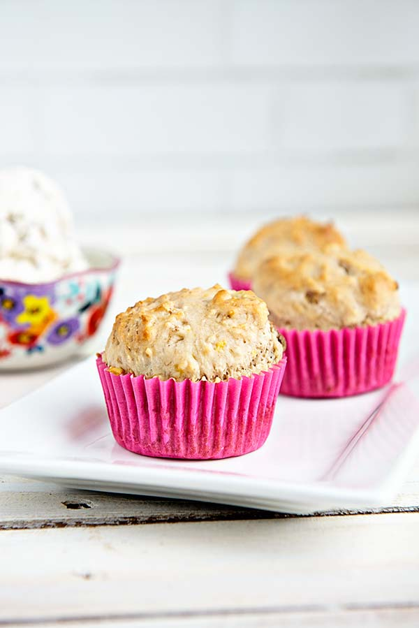 Ice Cream Muffins are a simple on the go breakfast idea from dineanddish.net