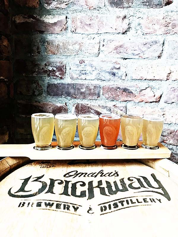 Omaha's Brickway Brewery Flight of Mules