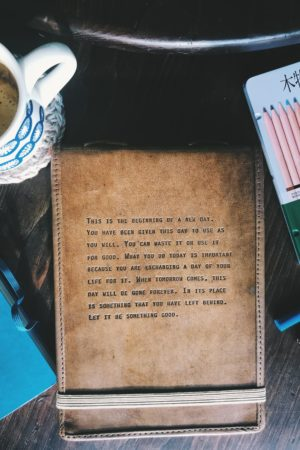 SugarBoo Company Notebook with quote