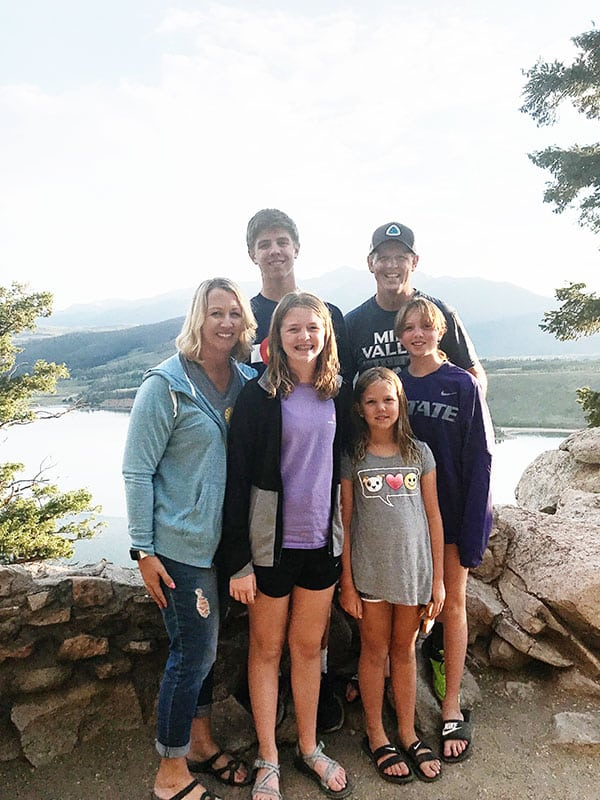 Kristen Doyle and family in Dillon, Colorado